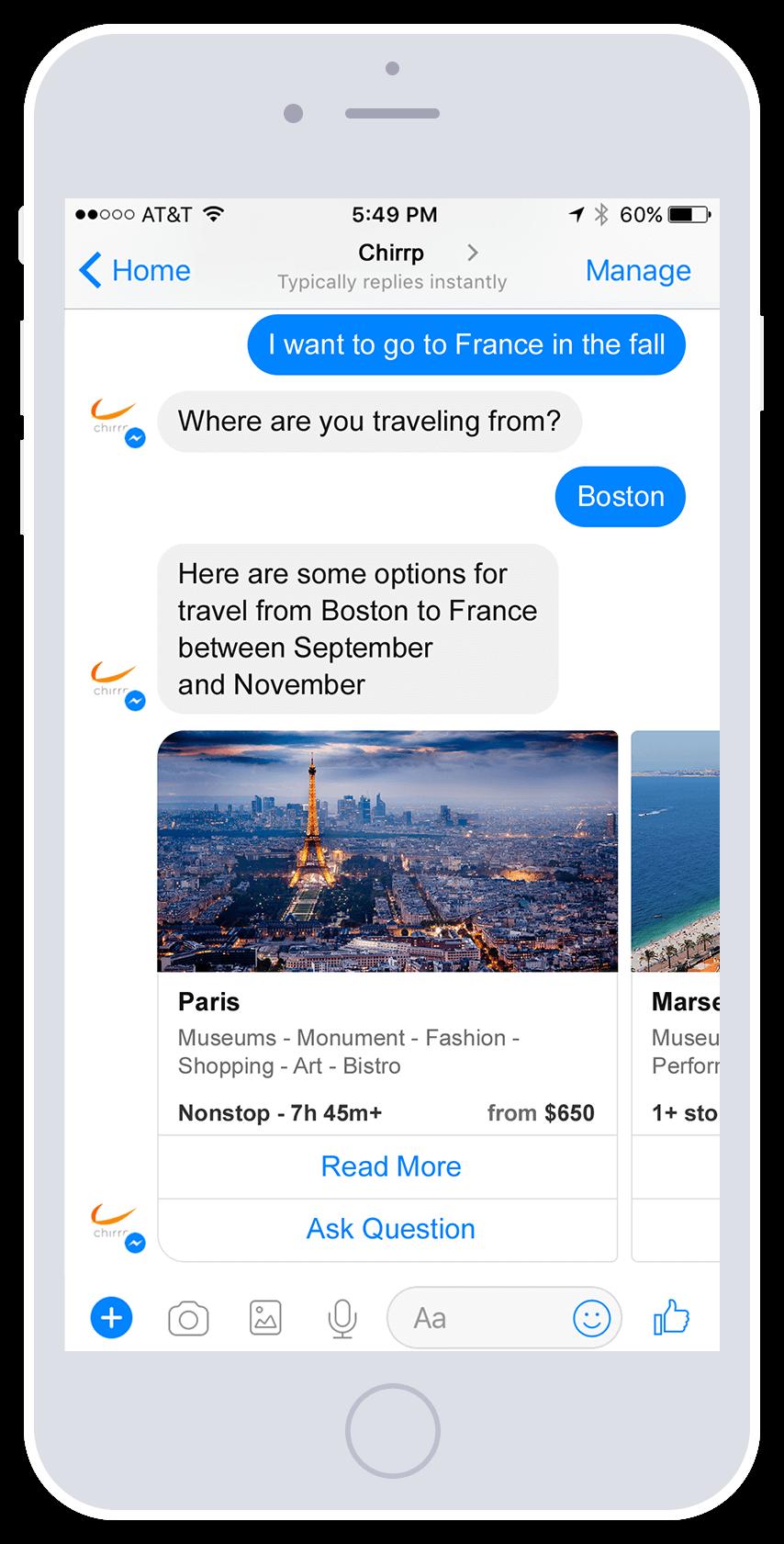 Chirrp Travel Booking